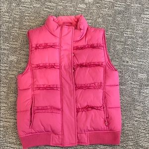 Pink Ruffled Vest